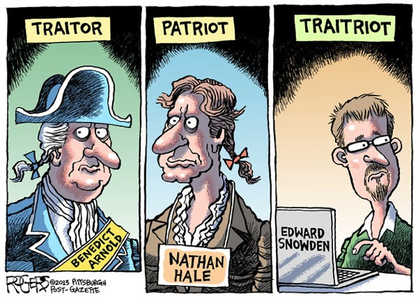 Cartoon snowden tratriot