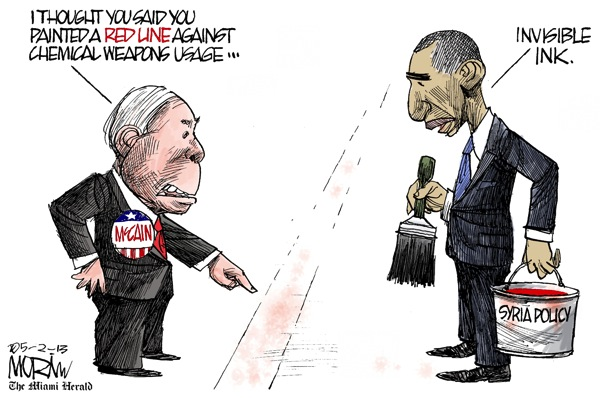 Obama syria cartoon morin